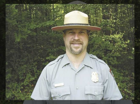 Greg Wozniak appears in a 2009 photograph published in The Saratogan following his selection as chief ranger of Saratoga National Historical Park in New York. Photo courtesy The Saratogan