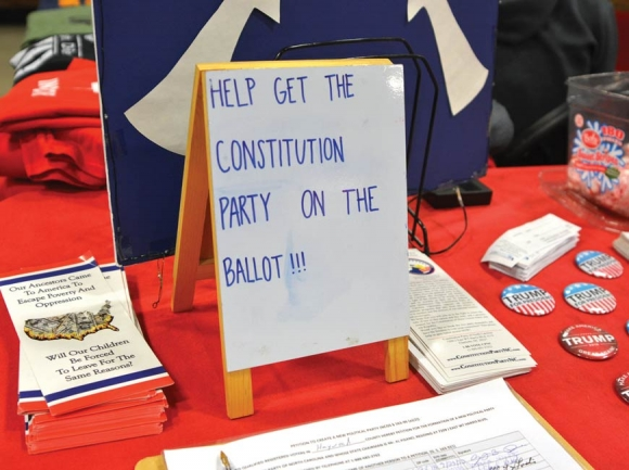 A successful petition drive has the Constitution Party poised to field at least a few candidates this fall. Cory Vaillancourt photo