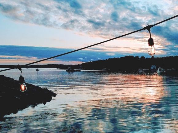 Sunset in New Harbor, Maine. (photo: Garret K. Woodward)