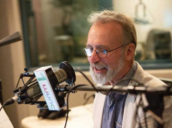 Frank Stasio at the WUNC studios. Ben McKeown photo