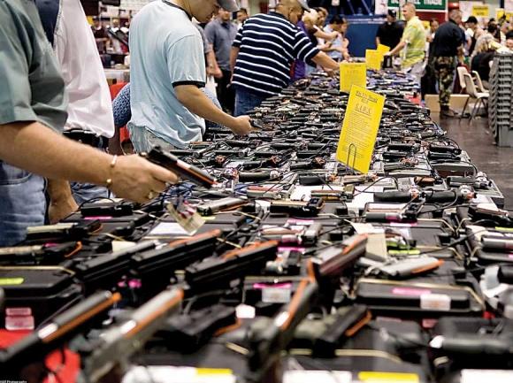 Houston gun show. creative commons photo