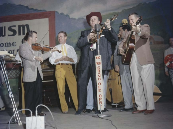 Bill Monroe at the Grand Ole Opry. (photo: Courtesy of PBS)