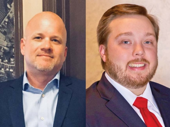 Haywood County Tax Collector Mike Matthews (left) will face a fellow Republican in the May 8 Primary Election. Andrew 'Tubby' Ferguson (right) says there's room for improvement in the county tax collector's office. Donated photos