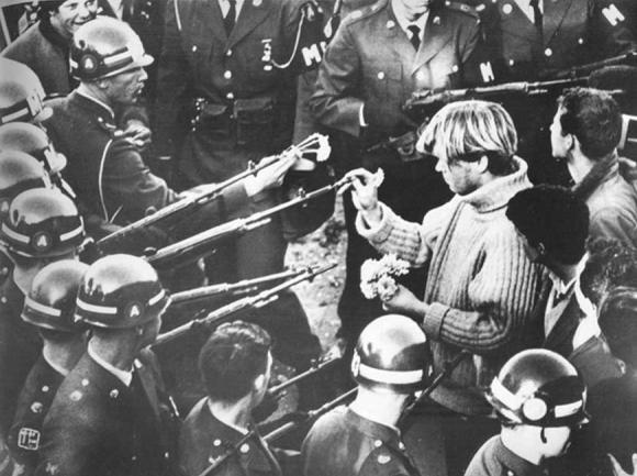 The 1967 'March on The Pentagon.' Bernie Boston photo