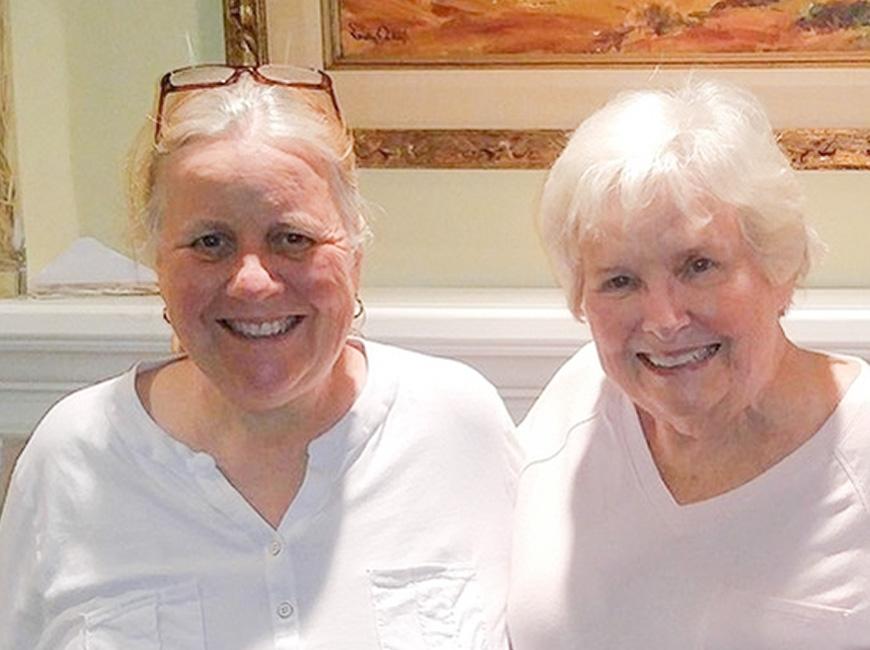 Kathye Shuman with her mother Meg Jones.