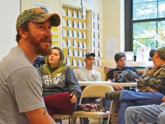 David Joy helps Central Haywood students find their voice