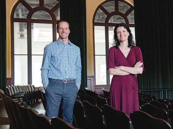 Al Kopak and Alexa Singer. WCU photo