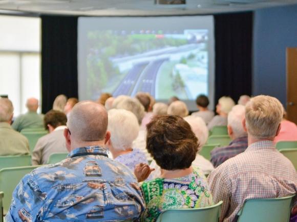 Around 100 people attended a presentation by NCDOT at Lake Junaluska on July 10. Cory Vaillancourt photo