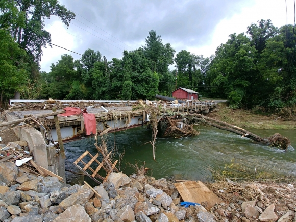 The aftermath of the floodwaters in Bethel last month.