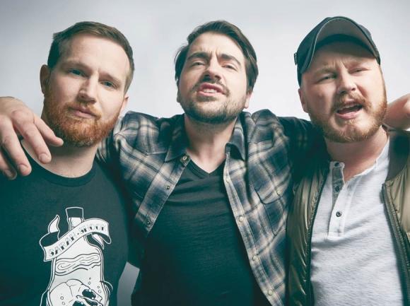 Drew Morgan, Trae Crowder and Corey Ryan Forrester. Nicol Biesek Photography