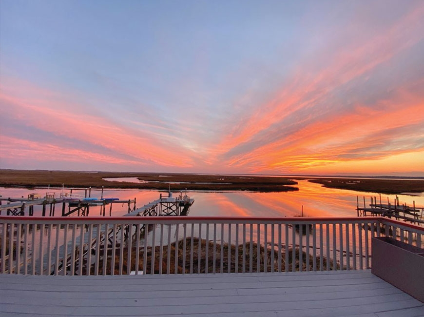 Over the past year, watching sunsets from the window of their New Jersey house was often the best part of the day for Lynn Jones and her husband, especially during the winter. Donated photo