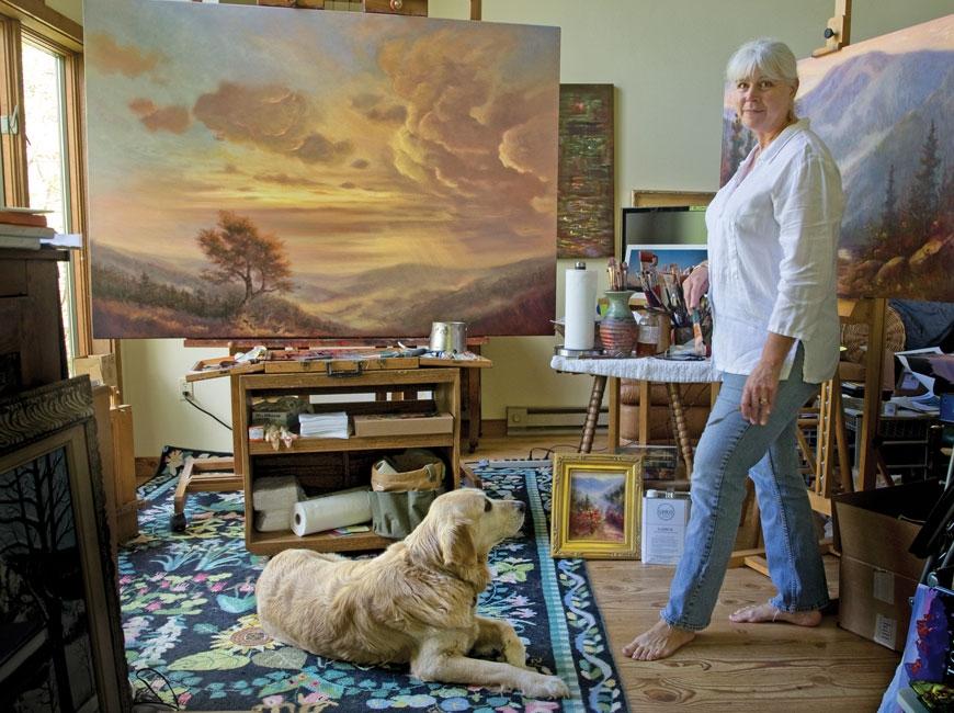 Waynesville painter Jo Ridge Kelley.