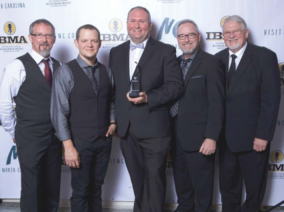 Haywood County bluegrass act Balsam Range won the International Bluegrass Music Association's biggest award, 'Entertainer of the Year,' at the IBMA award show last Thursday in Raleigh. The band previously received the honor in 2014. Photo courtesy of IBMA