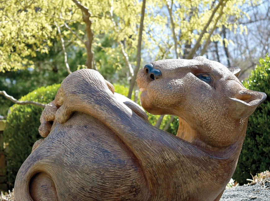 'Leo' by Pokey Park is one of 17 sculptures now on display. N.C. Arboretum photo