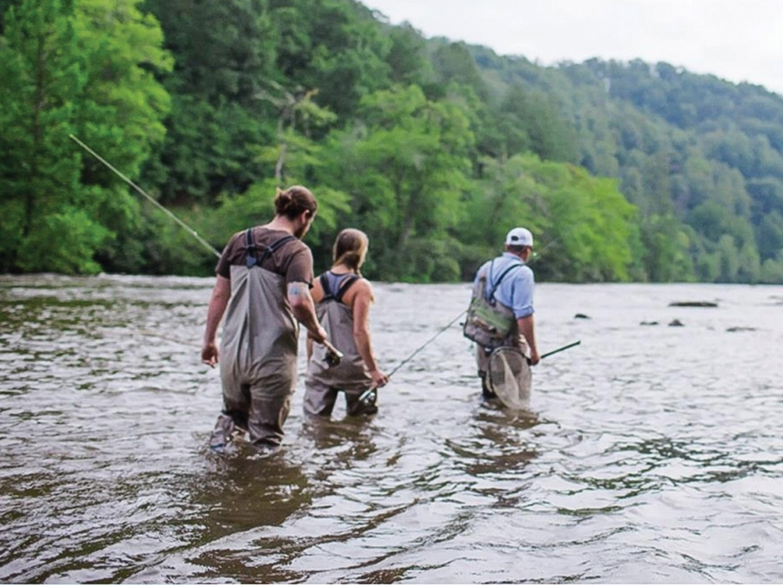 Jackson County's natural resources, including the angler-friendly Tuckasegee River, are key to its economic development plans. Jackson County TDA photo