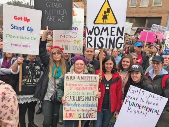 WNC marches for women's rights