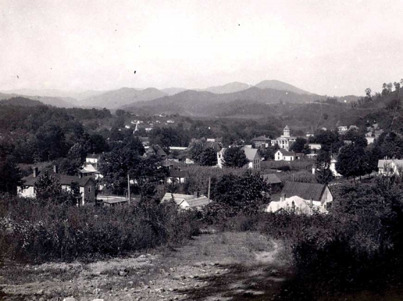 A view of Bryson City about 1920. WCU archive