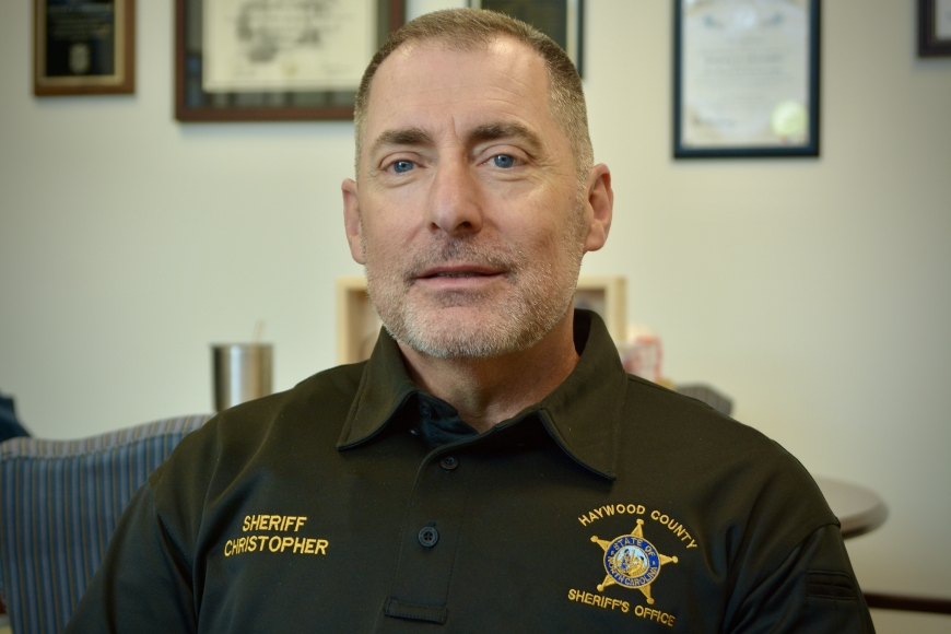 Sheriff Greg Christopher, pictured here in 2017, confirmed a longstanding rumor today.