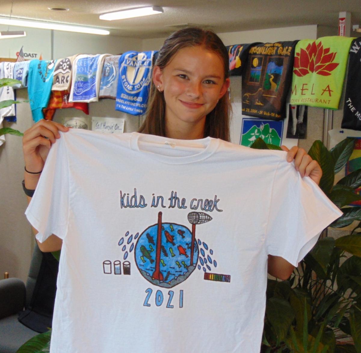 Winner announced for Kids in the Creek shirt design