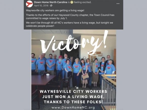A social media post from April, 2018 shows another exaggerated claim of victory by           Down Home North Carolina. Facebook photo