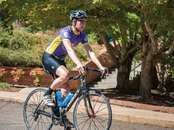 Pedaling toward Mitchell: Biking and biology go hand-in-hand for WCU professor