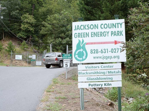 The recycling center at the Green Energy Park draws steady use, but it has to move if the property is to become the pedestrian-friendly campus the county envisions. File photo