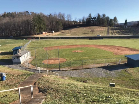 Jackson County Schools hopes to have required accessibility improvements to the baseball field at Smoky Mountain High School complete by late summer or early fall. Holly Kays photo