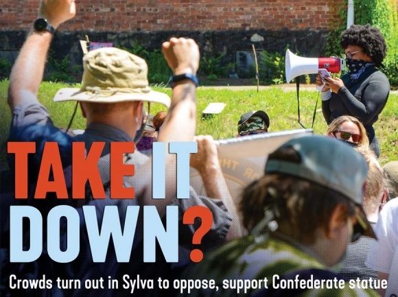 Take it down? Crowds turn out in Sylva to oppose, support Confederate statue