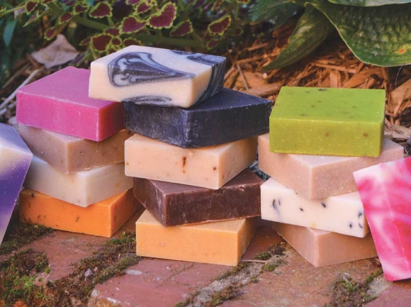 Specializing in an array of specialized skin remedies, Green Orchid's flagship product is its wide-array of homemade soaps. (photos: Garret K. Woodward)