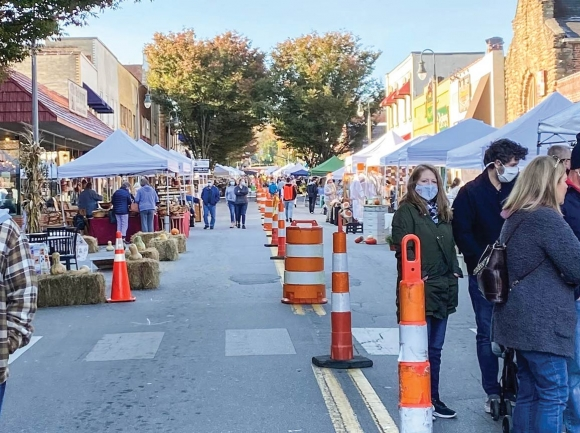 The 2020 Apple Harvest Festival in downtown Waynesville was one of the few regional events to take place last year. Haywood Chamber of Commerce photo