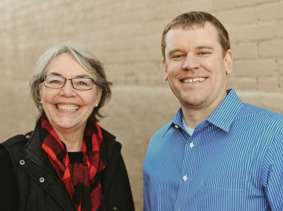 Jordan Smith (right) will become Mainspring Conservation Trust's new director when Sharon Taylor (left) retires this month.  Donated photo