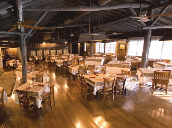 The Fryemont Inn dining room in Bryson City.