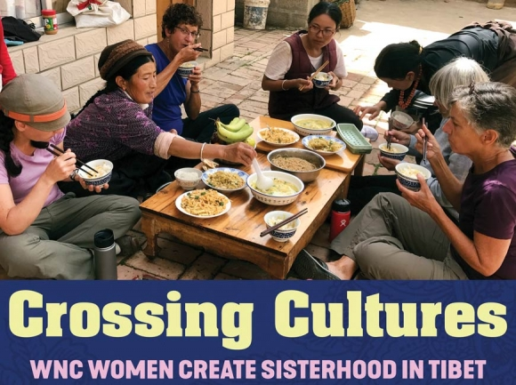 Women from Western North Carolina share a meal with women in Tibet during the Eastern Tibet Women's Pilgrimage Tour in 2017. Donated photo