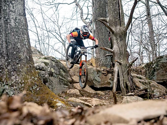 Austin San Souci rides in the Tennessee National Enduro March 14 in Windrock, Tennessee. Ryan Little photo