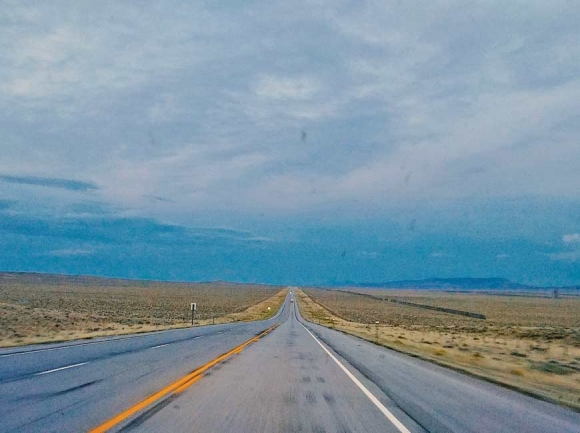 Wyoming highway. Garret K. Woodward photo
