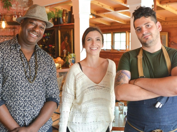 Antoine Maurice Hodge, (from left) Crystal Pace and Santiago Guzzetti. Pace and Guzzetti own/operate the establishment, with Hodge the             bar director. (photos: Garret K. Woodward)