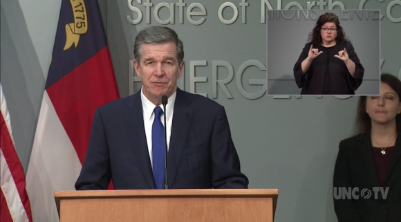 Gov. Roy Cooper announced the order in a press conference on March 27.