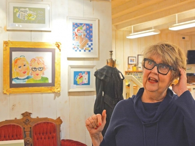 Margaret Pennington Roberts in her brightly-lit studio. Cory Vaillancourt photo