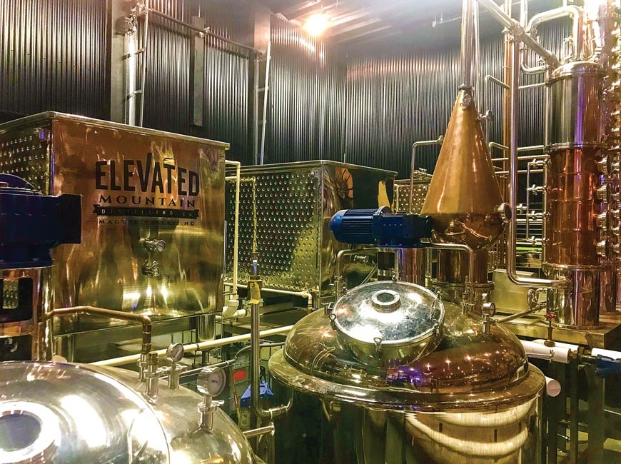 Elevated Mountain Distilling in Maggie Valley.