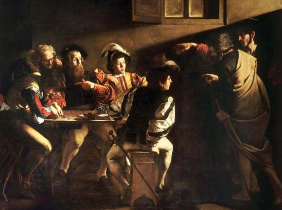 Caravaggio's The Calling of St. Matthew. wikipedia