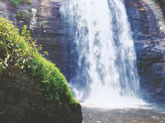 Looking Glass Falls. Garret K. Woodward photo