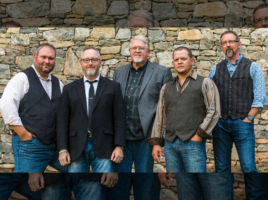Balsam Range is Darren Nicholson, (from left) Tim Surrett, Marc Pruett, Caleb Smith and Buddy Melton. (photo: David Simchock)