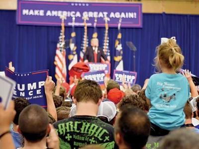 Local politicians speak at Trump rally