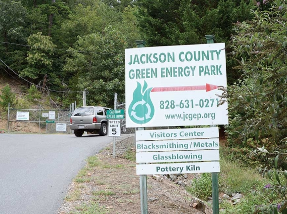 The recycling center in Dillsboro draws steady use.