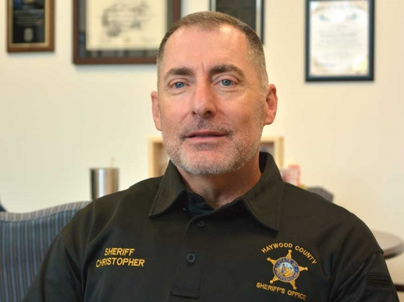 Haywood County Sheriff Greg Christopher will seek another four-year term. Cory Vaillancourt photo