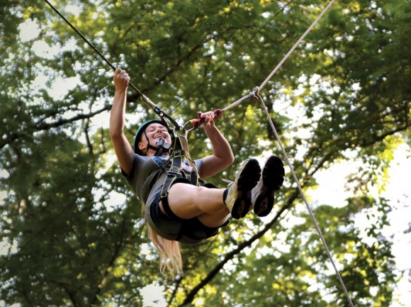 SEE Adventure Camp attracts blind teens from across the country for a week of zip-lining, hiking and whitewater rafting.