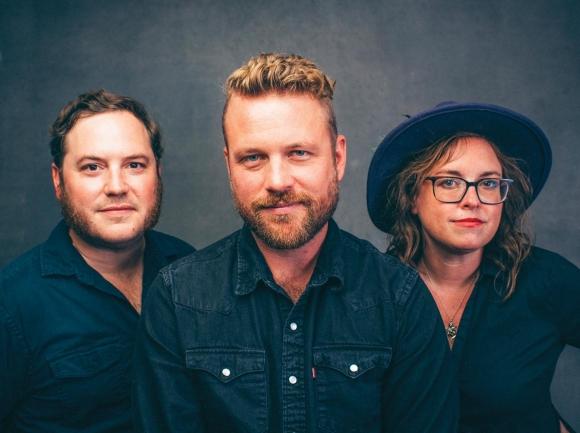 The Jon Stickley Trio. Hunter Deacon, (from left) Jon Stickley and Lyndsay Pruett. (Photo: Sandlin Gaither.)