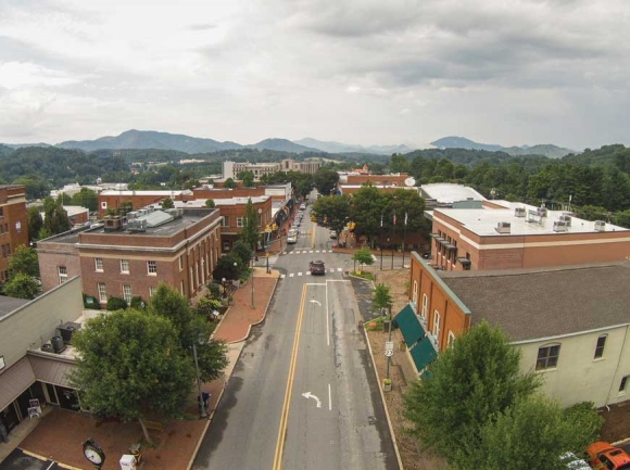 Downtown Waynesville.