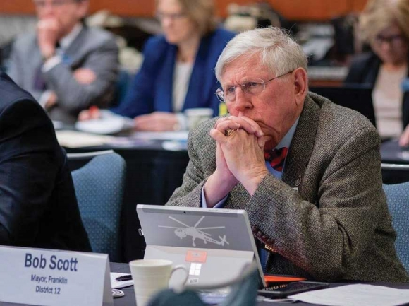 Franklin Mayor Bob Scott, a former journalist and open government proponent, says there has to be a compelling reason for the town council to go into closed meetings. Donated photo